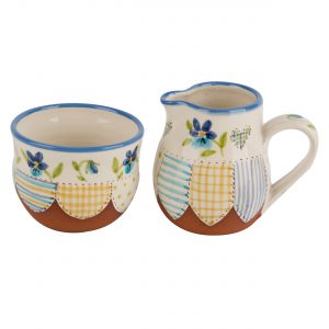 A photo of a hand made ceramic Jug and Bowl set by Kate Hackett