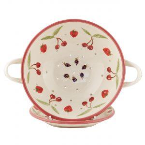 A photo of a handmade A fruit Design Colander with plate