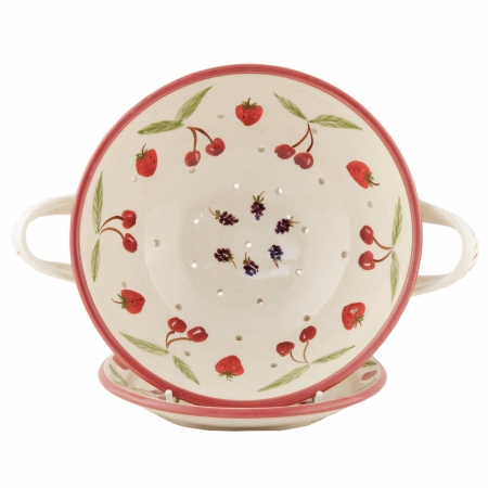 A photo of a handmade A fruit Design Colander with plate