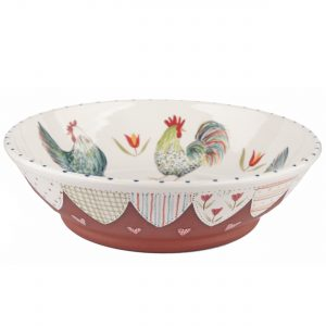 A handmade ceramic chicken Bowl