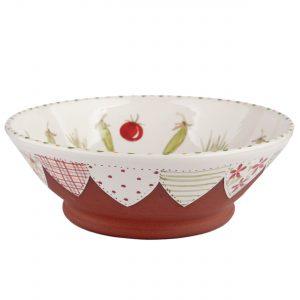 A photo of a handmade ceramic garden design bowl