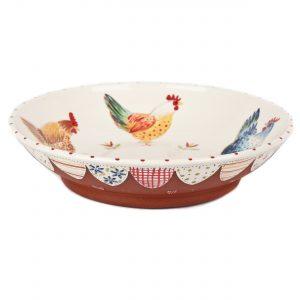 A photo of a handmade ceramic chicken Bowl