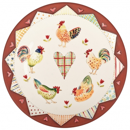 A photo of a handmade ceramic Patchwork Hanging flat platter