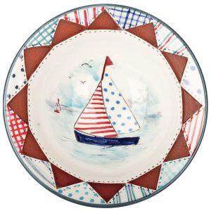 A photo of a handmade ceramic Seaside design bowl