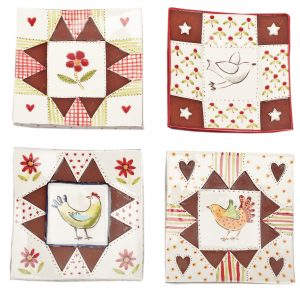 A photo of handmade ceramic Small Square dishes