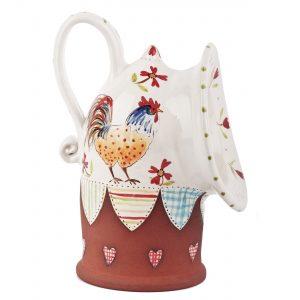 A photo of a handmade ceramic Large chicken design Salt Pig