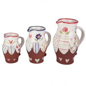 A photo of a handmade ceramic Floral jugs