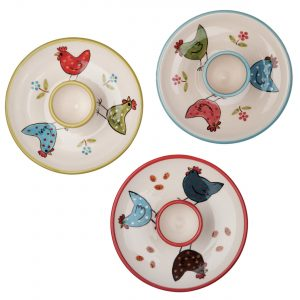 A photo of a selection of handmade ceramic egg plate