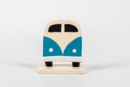 A photo of a Ceramic stand up decoration in the shape of a campervan tree